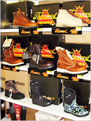 Click here for enlargement - Kelly's has Thorogood Boots and Shoes - MADE IN THE USA